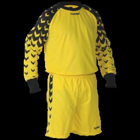 Hummel keeperskleding - Uitverkoop Keeperskleding - Keeperskleding - Keepersets - kopen - Hummel Dundee keeperset zwart/geel (Aktie)