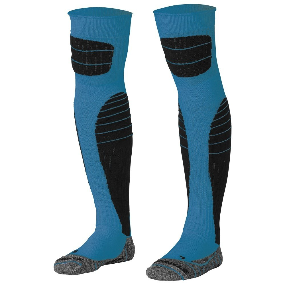 Stanno High impact goalkeeper sock blauw-zwart