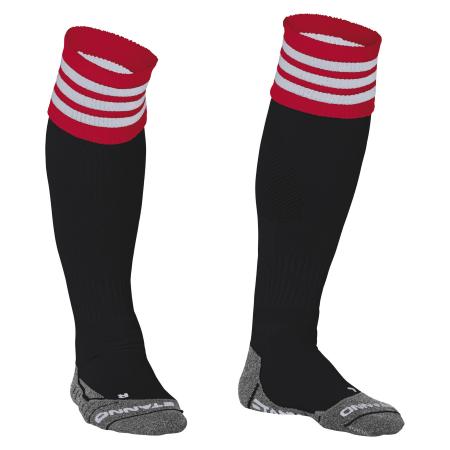 Stanno ring sock zwart/rood/wit de stanno ring sock zwart/rood/wit is vervaardigd marfil/elastine. deze kous ...