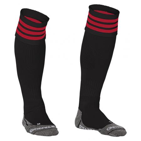 Stanno Ring Sock Zwart/Rood